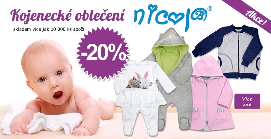 Výprodej kojeneckého oblečení NICOL!! SLEVA 20%.