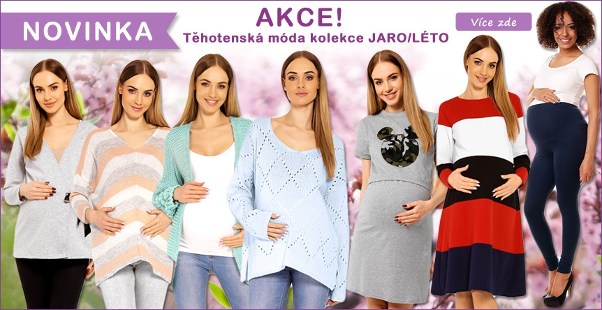 AKCE na veškerou těhotenskou módu DUBEN 2018