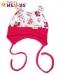 Čepička Baby Nellys na zavazování s oušky -…