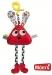 Edukační hračka Hencz DLOUHONOŽKA - červená